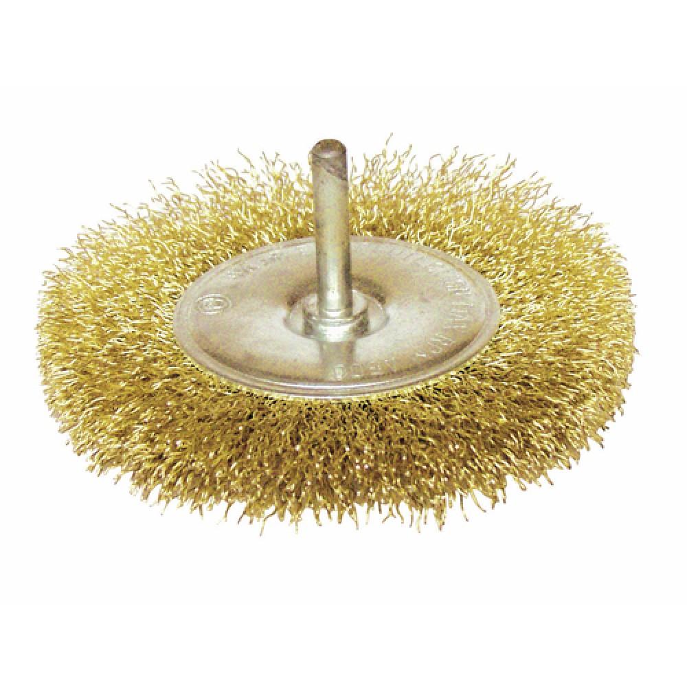 brosse laiton circulaire pour perceuse tige 6 mm leman bricozor. Black Bedroom Furniture Sets. Home Design Ideas