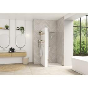 Porte de douche - pivotante  - sans seuil - 80 ou 90cm - Smart Design P KINEDO