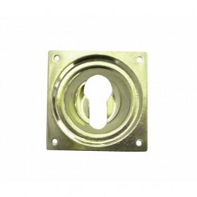 Entrée de cylindre en laiton poli - clé I DUBOIS INDUSTRIES