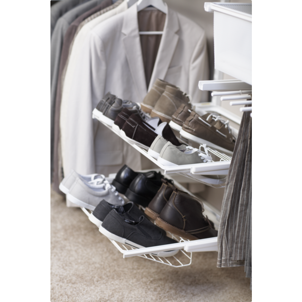 porte chaussures coulissant 2 rang es pour syst me suspendu elfa bricozor. Black Bedroom Furniture Sets. Home Design Ideas