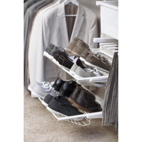 Porte-chaussures 2 rangées pour système suspendu ELFA