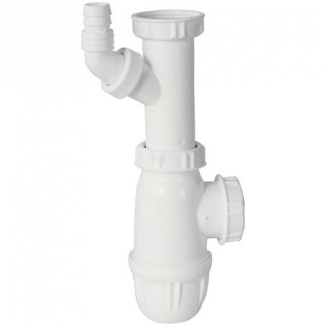 Siphon pour évier - piquage lave-linge  - sortie 40mm VALENTIN