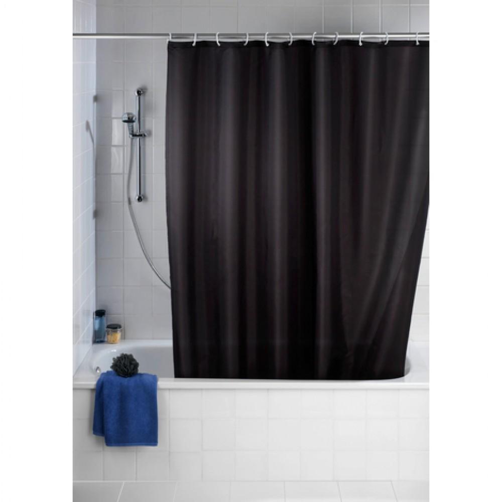 Rideau de douche anti moisissure couleur unie 180 x 200 cm wenko bricozor - Moisissure noire douche ...