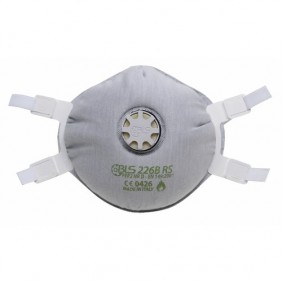 Demi-masque filtrant - jetable - avec valve flamme retardante - FFP2 BLS