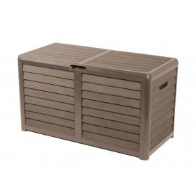 Malle de jardin - 420 litres - décor bois - Baya EDA PLASTIQUES