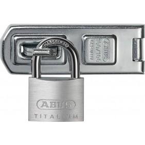 Porte-cadenas 100/100 mm + cadenas 54Ti Titalium™ 40 mm ABUS