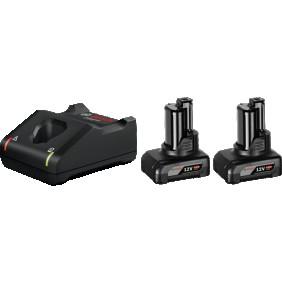 Batterie GBA 12 Volts 6.0 Ah x2 + chargeur GAL 1230CV - 1600A01B20 BOSCH