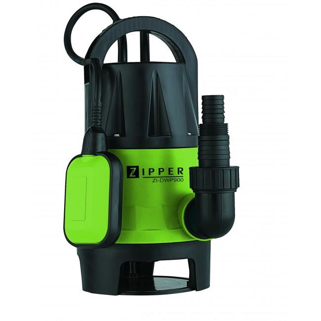 Pompe d'évacuation pour eaux chargées - puissance 900 Watts - DWP900 ZIPPER
