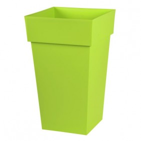 Pot carré haut pistache - 39 x 39 cm - 62 litres - Toscane 13635 EDA PLASTIQUES