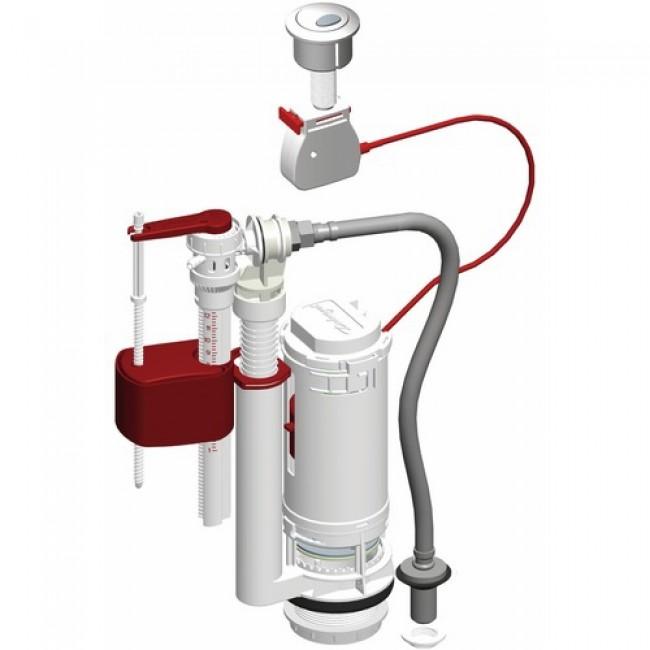 M canisme chasse d 39 eau universel 3 6 litres avec flotteur mpmp bricozor - Reglage chasse d eau double commande ...