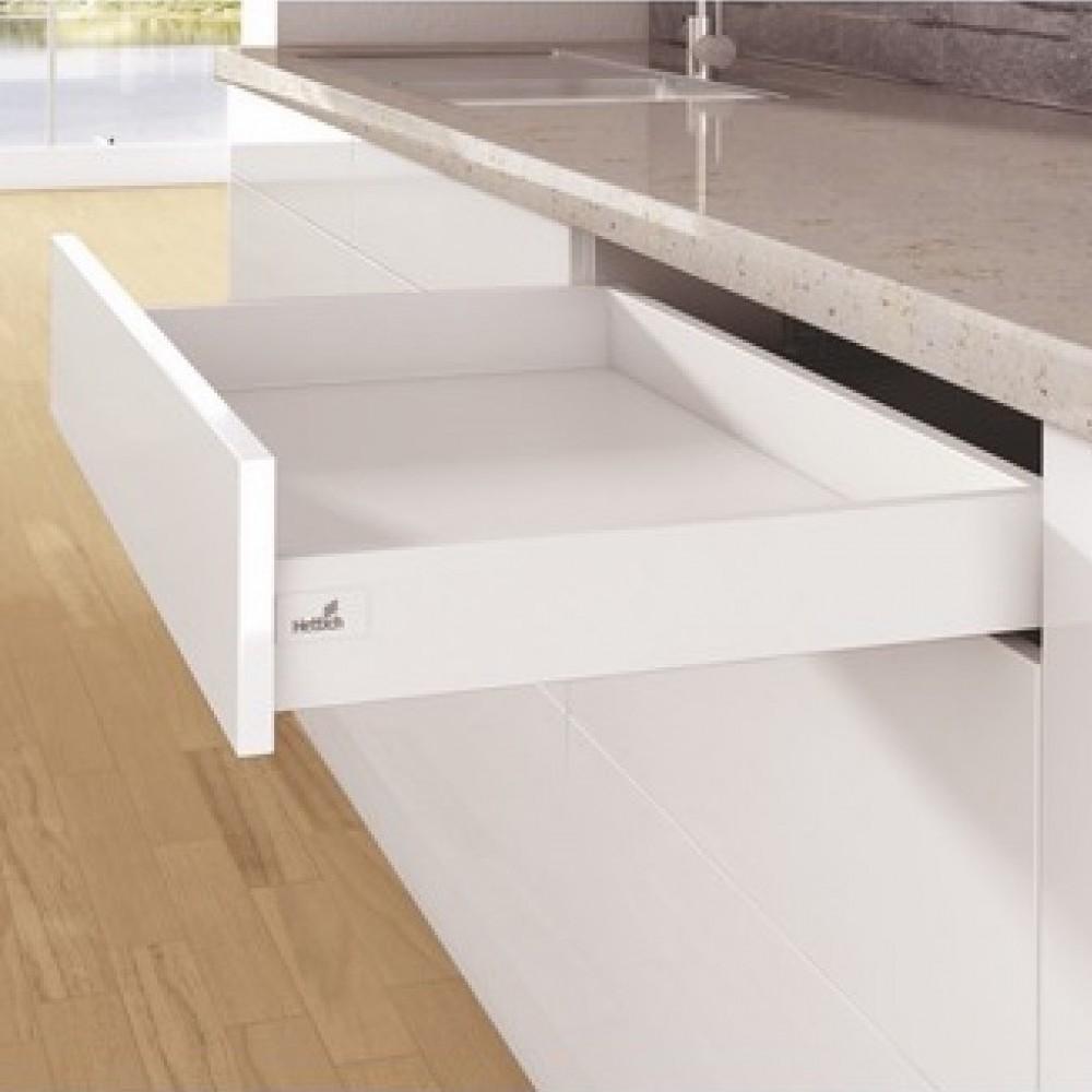 Fabriquer Un Tiroir Coulissant kit tiroir simple arcitech - profil hauteur 94 mm hettich sur bricozor