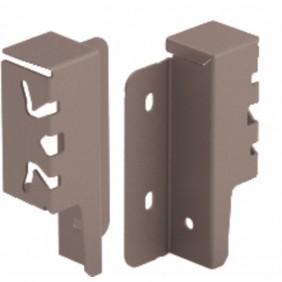 Raccords de paroi arrière pour tiroir ArciTech-H94 mm-anthracite HETTICH