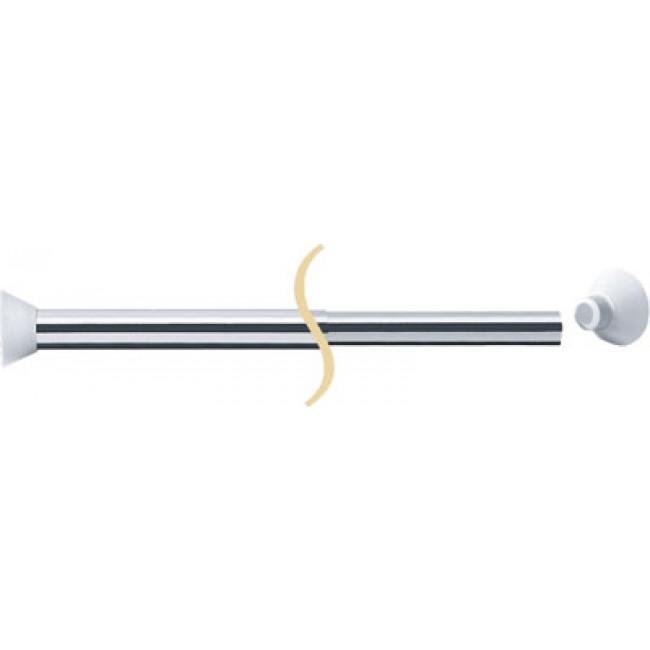 Porte rideaux droit extensible aluminium poli extensible 1200 > 2200 mm PELLET ASC