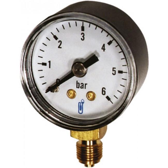 Manomètre vertical à boîtier sec en ABS - diamètre 63 mm - 8x13mm DISTRILABO