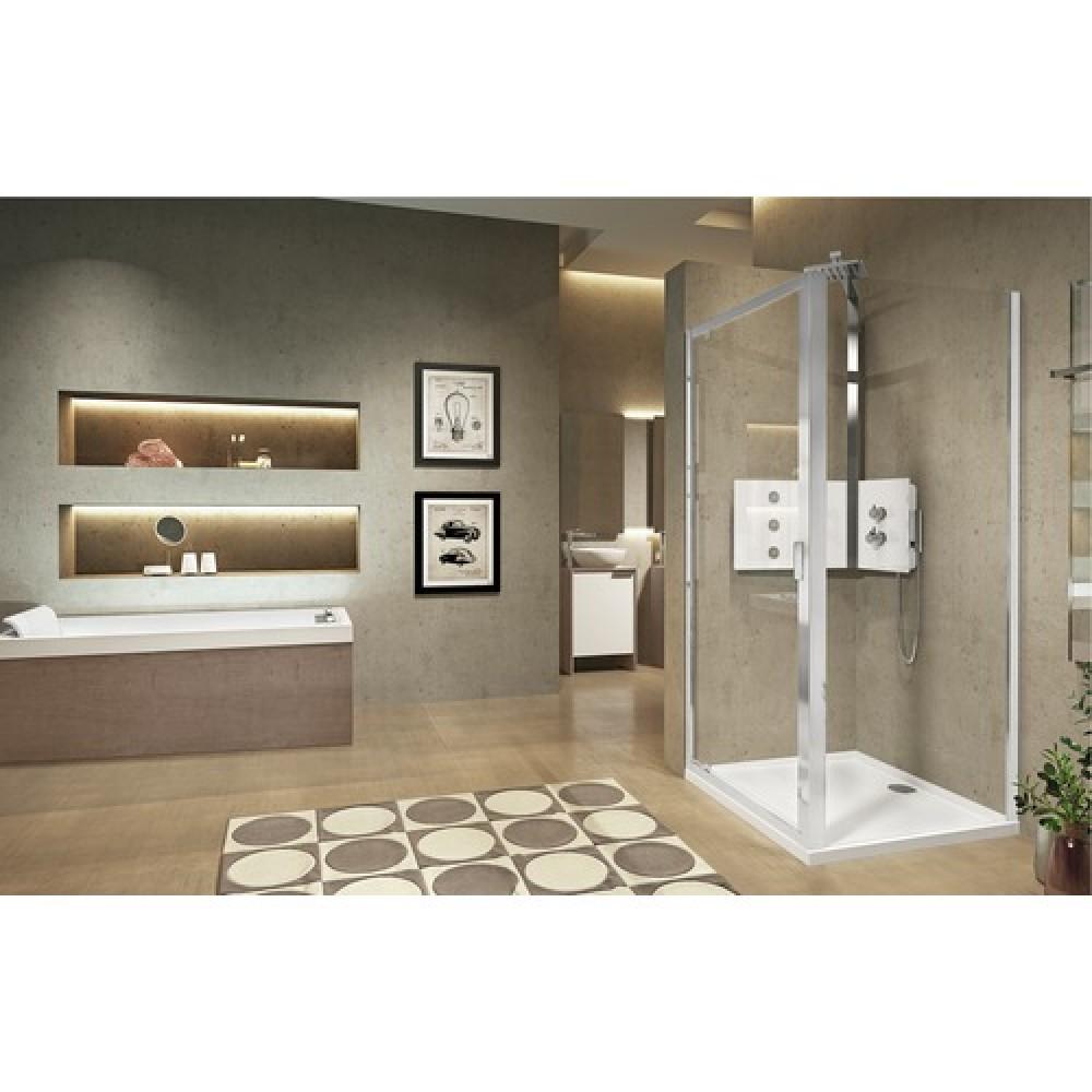 paroi de douche fixe compl mentaire lunes 2 0 f. Black Bedroom Furniture Sets. Home Design Ideas