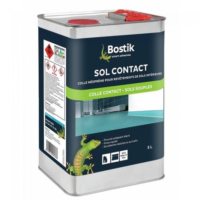 Colle néoprène - pour revêtements de sols intérieurs - Sol Contact BOSTIK