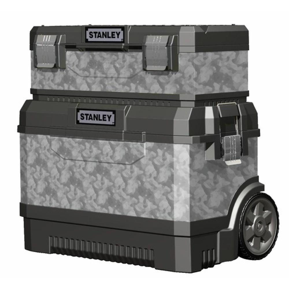 coffre de chantier roulant bo te outils galvanis es 1 95. Black Bedroom Furniture Sets. Home Design Ideas