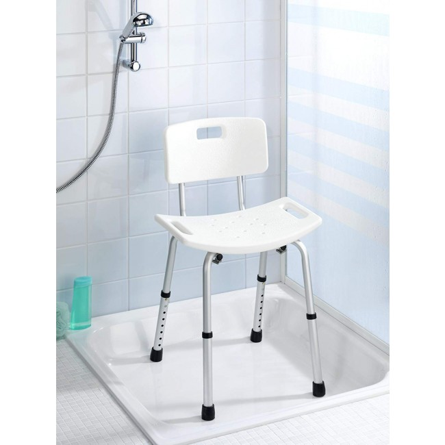 Tabouret pour salle de bains - Secura - Avec dossier WENKO