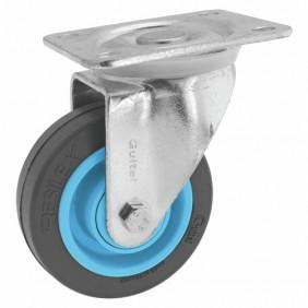 Roulette pivotante - à platine - Résilex® - charges moyennes - Gemroll POINT M