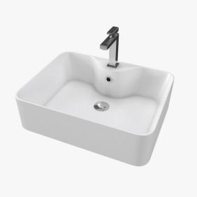 Vasque blanche - Fjord - rectangle - 48x37x13,5cm - Céramique AURLANE