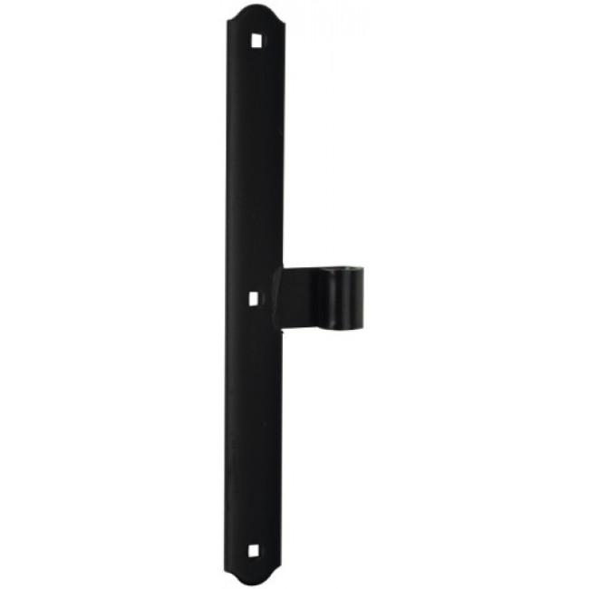Penture de milieu en té - festonnée - acier phorétique noir - 320 mm TORBEL