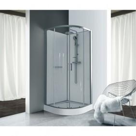 Cabine de douche 1/4 de rond à portes coulissantes Kara LEDA