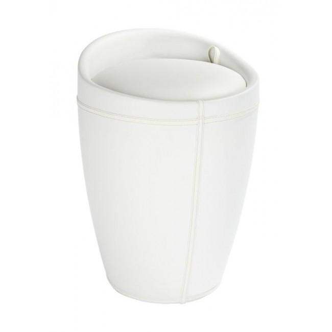Tabouret/bac à linge salle de bain - Candy - Simili cuir WENKO
