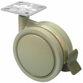 Roulette de meuble - bandage caoutchouc - Jemedesign GUITEL