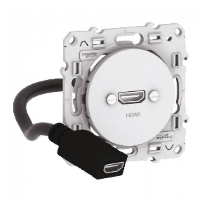 Prise HDMI type A - Blanc - Odace SCHNEIDER
