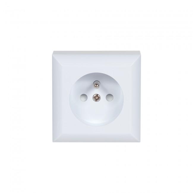 Prise de courant en saillie - 2P+T - blanc - éco DEBFLEX