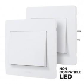 Kit Va-et-vient sans fil encastré complet - blanc - Diam2 DEBFLEX