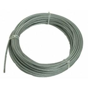 Câble acier galvanisé, âme métallique antigiratoire, 18 torons de 7 fils BRICOZOR