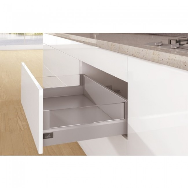 Kit tiroir DesignSide ArciTech-profil H94-dos H186 mm-argent HETTICH