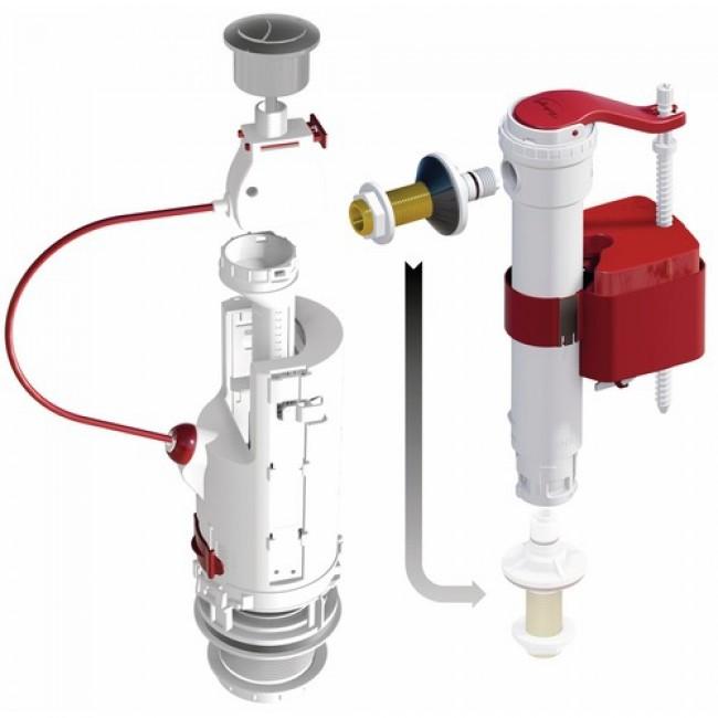 Mécanisme de chasse d'eau - soupape à étrier -  CLIP 6 robinet SX DUBOURGEL