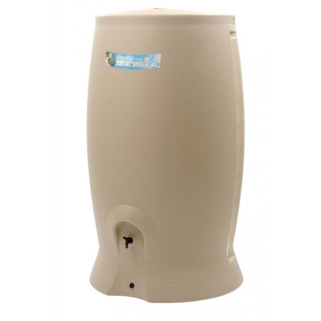 Récupérateur d'eau beige + kit collecteur - 1000 litres  - Recup'O EDA PLASTIQUES