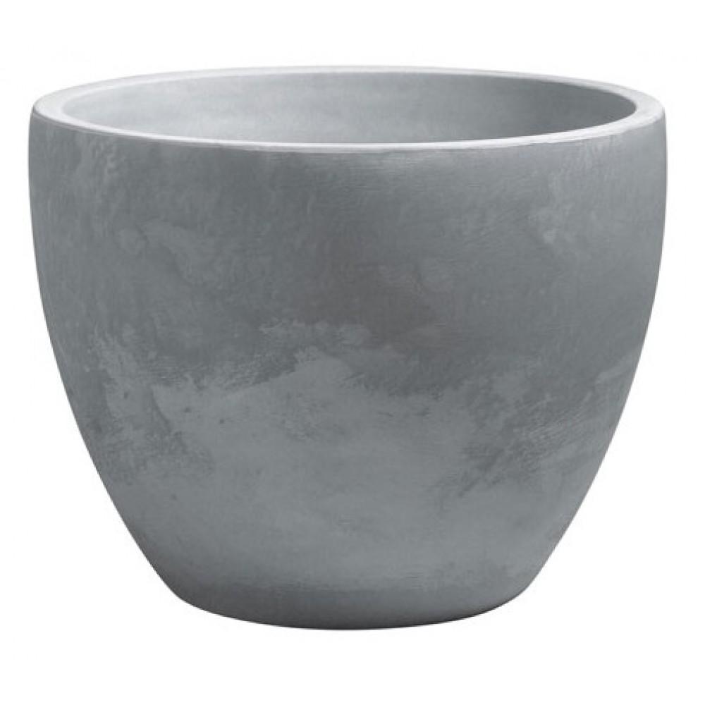 bac fleurs rond gris 98 litres palmea13900 eda plastiques bricozor. Black Bedroom Furniture Sets. Home Design Ideas