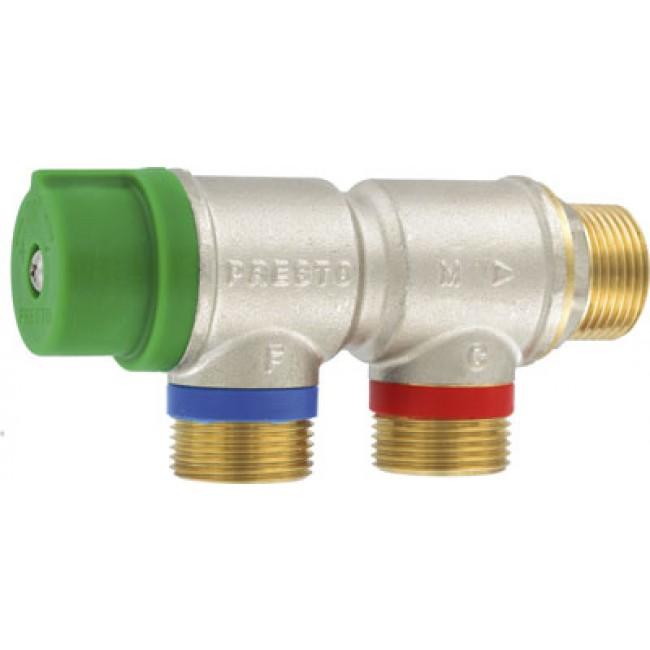 Régulateur thermostatique de sécurité à entrées parallèles - M20x27 PRESTO