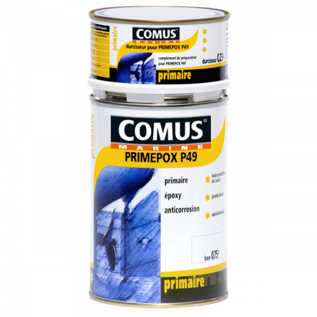 Primaire époxy anticorrosion - gris perle - 1 litre - Primepox P49 COMUS