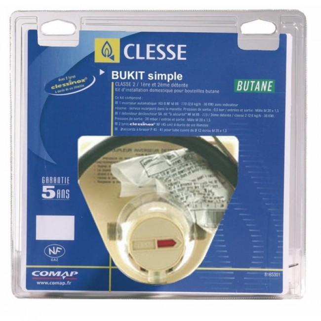 Détendeur gaz butane simple - kit complet - Bukit S CLESSE