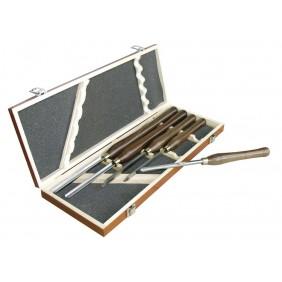 Coffret de 5 outils de tournage pour tour à bois LEMAN
