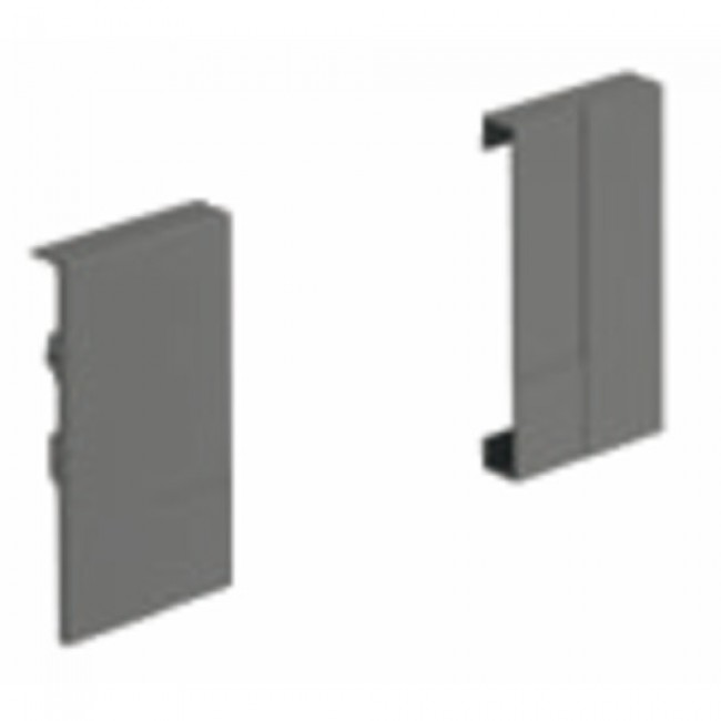 Raccords d'angle pour face avant InnoTech Atira-hauteur 70 mm-anthracite HETTICH