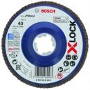 Disque à lamelles pour métal 125 mm à moyeu plat - fixation X-lock BOSCH