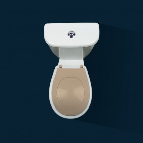 Abattant wc clipsable - 100 % hygiénique - beige PAPADO