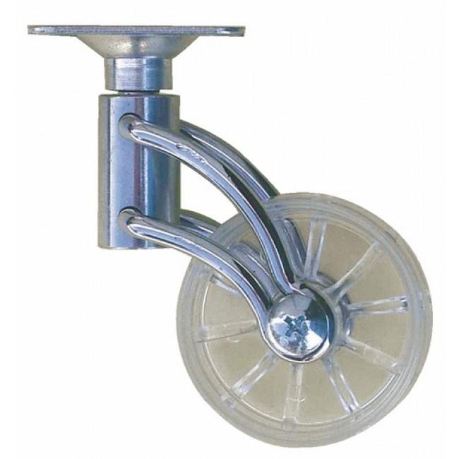 Roulette de meuble design, roue translucide en polypropylène GUITEL