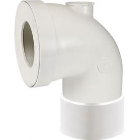Pipe WC courte Femelle Ø 100 avec piquage Ø 40 GRANDSIRE