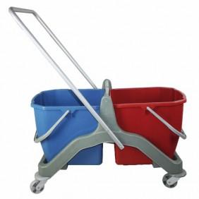 Chariot de ménage - double bacs - 2x20 litres BRICOZOR