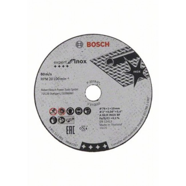 Disque à tronçonner 76mm Expert for Inox - lot de 5 BOSCH