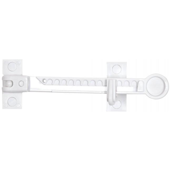 Entrebâilleur pour fenêtre PVC ou alu  - fixation sans vis - FFS 100 ABUS