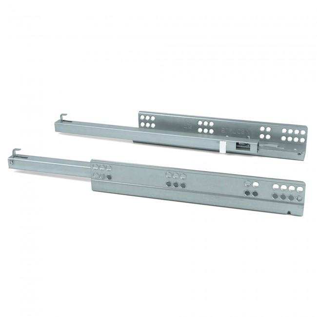 Paire de coulisses invisibles-système push-sortie partielle-Silver EMUCA