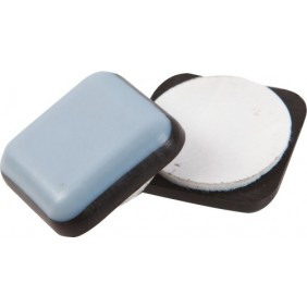 Patin glisseur carré - avec adhésif de fixation - en TPFE Shepherd Hardware
